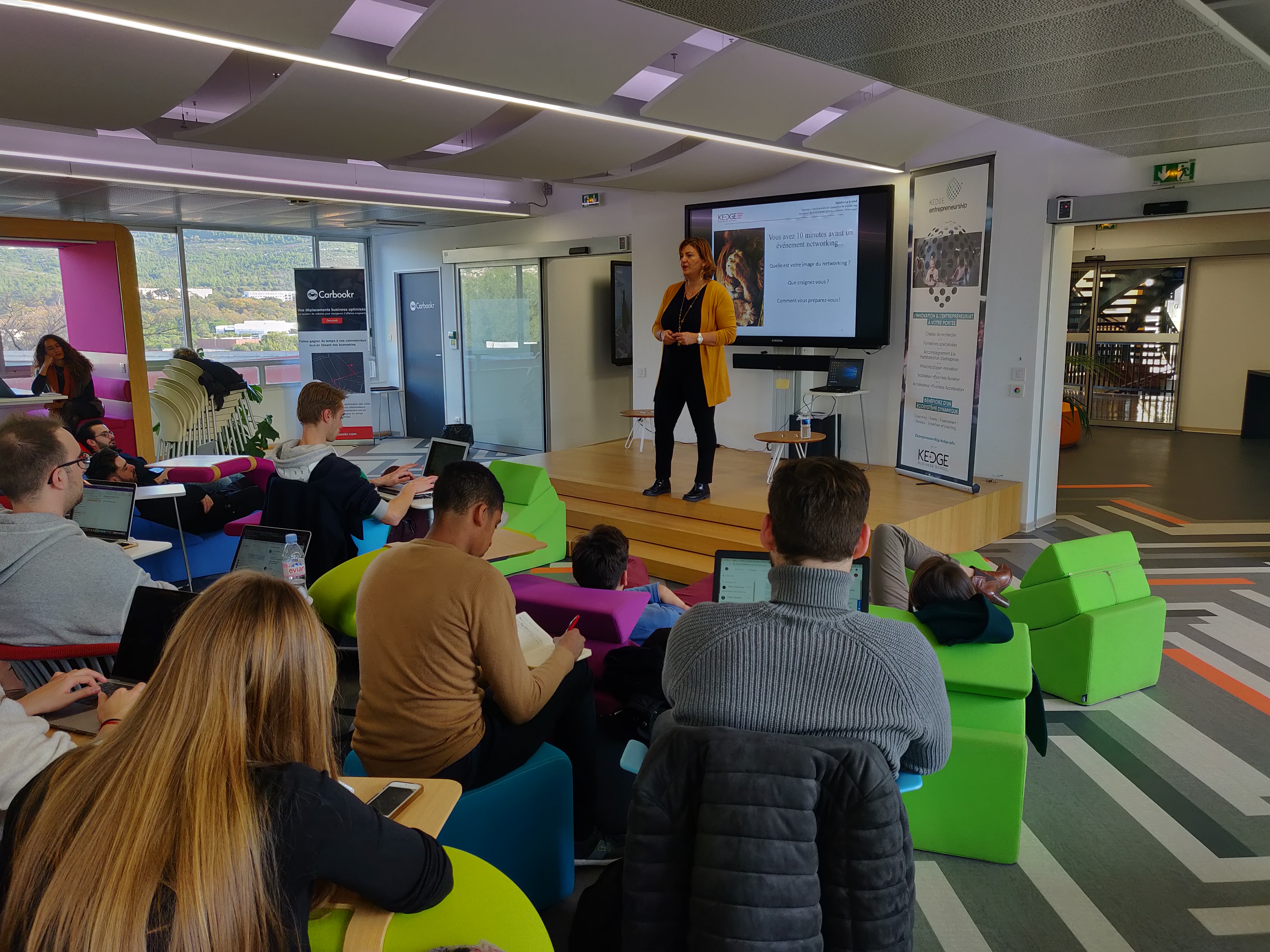 Sandra Le Grand intervient sur le Networking à Kedge BS