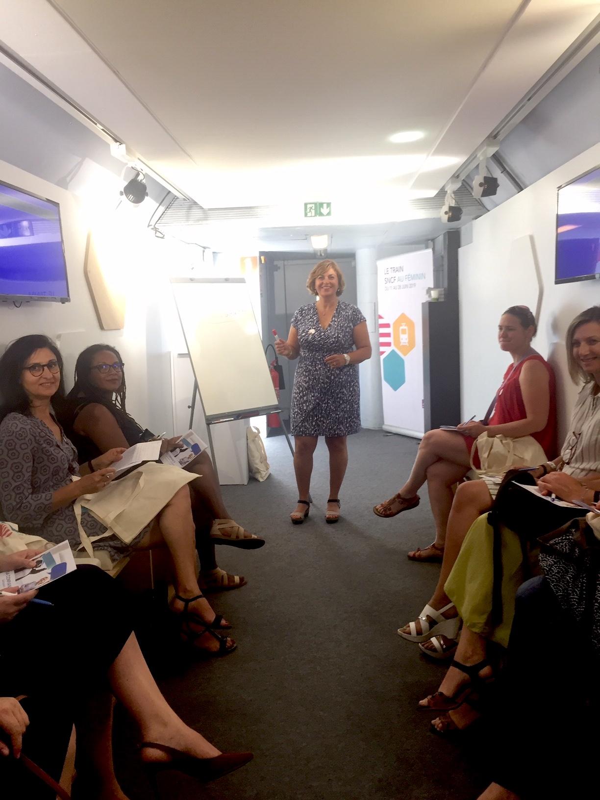 Animation des ateliers SNCF au féminin