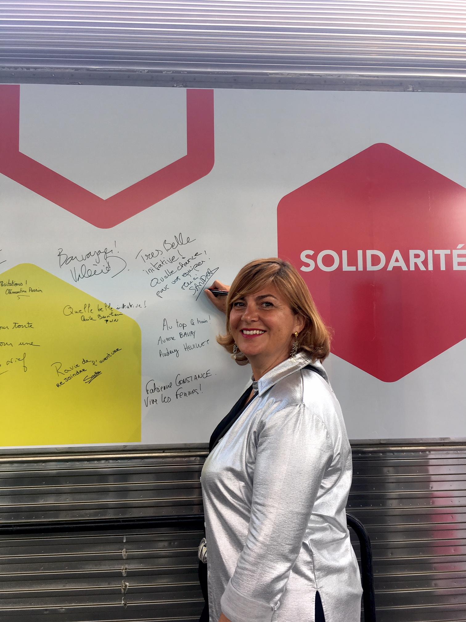 Sandra Le Grand train SNCF au feminin