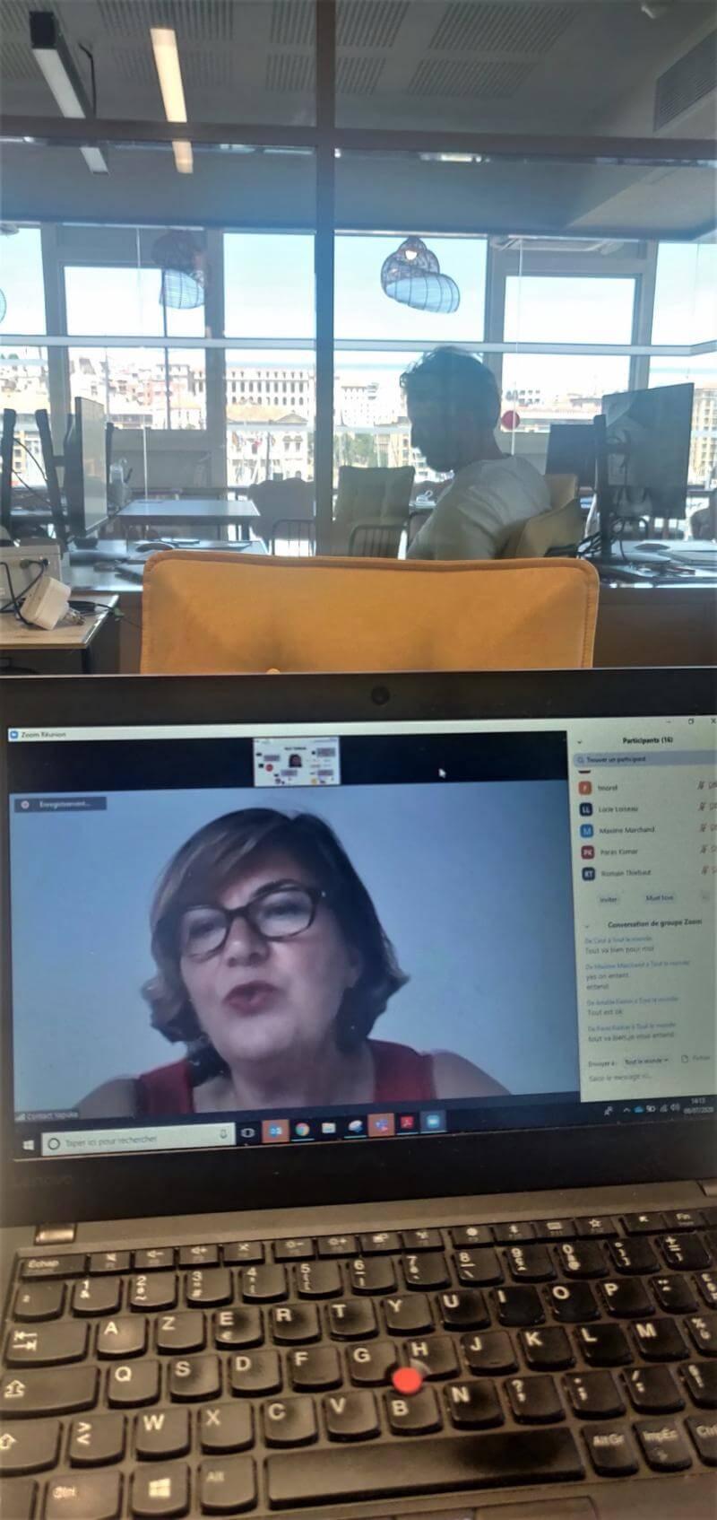 Webinaire de Sandra Le Grand sur l'entrepreneuriat pour les étudiants de KEDGE Business School